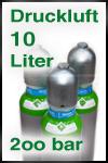 Druckluftflasche 10 Liter 200 bar