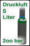 Kaufflasche Druckluft 200 bar 5 Liter gefüllt