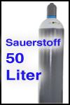 Sauerstoff 50 Liter gefüllt fabrikneu mit TüV bis 2027