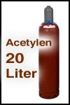 Kaufflasche Acetylen 20 Liter gefüllt